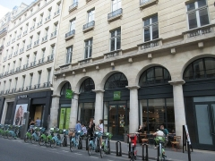 Immeuble, dit ancien hôtel Moreau - Français:   Emplacement panneau Histoire de Paris «Hôtel Moreau» situé 22 rue de la Chaussée-d\'Antin