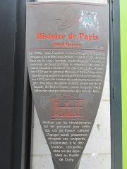 Immeuble, dit ancien hôtel Moreau - Français:   Panneau Histoire de Paris «Hôtel Moreau»