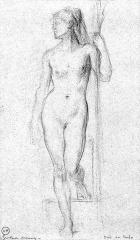 Musée Gustave Moreau - English: Study for La Sirène et le Poète
