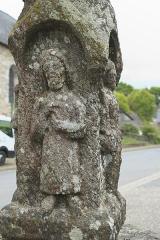 Croix du 17e siècle - Deutsch: Calvaire (Kreuz) in La Ferrière im Département Côtes-d'Armor (Region Bretagne/Frankreich), aus Granit, aus dem 15. Jahrhundert