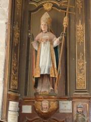 Eglise Saint-Loup - Français:   Lanloup: église Saint-Loup, statue de saint Loup