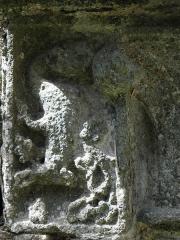 Ruines de l'abbaye de Beauport - Détail sculpté des lavabos du cloître de l'abbaye de Beauport en Paimpol (22).