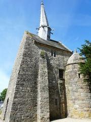 Chapelle Saint-Gonéry et cimetière - English:   Churchtower, Brehec, France.