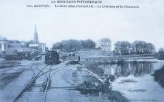 Château - Français:   La gare départementale de Quintin vers 1910 (ligne ferroviaire allant de Quintin à Rostrenen).
