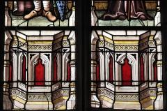Eglise Saint-Nicolas - Deutsch: Katholische Pfarrkirche Saint-Pierre in Saint-Nicolas-du-Pélem im Département Côtes-d'Armor (Region Bretagne/Frankreich), Bleiglasfenster mit der Signatur LAIGNEAU 1885