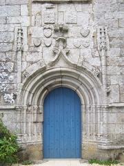 Chapelle Notre-Dame de Kerdevot - Porche ouest de la Chapelle Notre-Dame de Kerdévot, Ergue Gabéric, Pays Glazik, Bretagne
