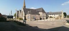 Eglise Saint-Onneau - Français:   Eglise d\'Esquibien (29) vue de l\'exterieur, 3/4 droit