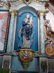 Chapelle de Saint-Cado ou Saint-Cadou - Français:   Gouesnach: chapelle Saint-Cadou, Vierge à l\'Enfant