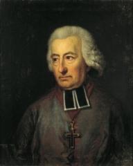 Ancienne abbaye de Saint-Guénolé - English:   Jean Baptiste Marie Champion de Cicé (1725-1806) lebte als französischer Emigrant in Halberstadt.  Champion de Cicé an Gleim am 1. Januar 1801:\