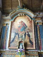 Eglise Saint-Edern -  Lannédern: église Saint-Edern, autel d'une chapelle latérale