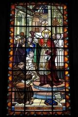 Eglise Saint-Mathieu - Deutsch: Katholische Kirche Saint-Mathieu in Morlaix im Département Finistère (Region Bretagne/Frankreich), Bleiglasfenster mit der Signatur Deschamps 1934 St Servan s/Mer
