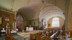 Eglise Saint-Demet - English: Interior of church Saint-Demet de Plozévet in Plozévet, Brittany.