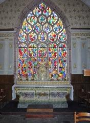 Eglise Saint-Demet - Français:   Plozévet, église paroissiale Saint-Démet: vitrail.