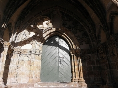 Eglise Notre-Dame de Roscudon - Français:   Intérieur du porche sud de la collégiale Notre-Dame-de-Roscudon à Pont-Croix (29).