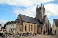 Eglise Notre-Dame-de-l'Assomption ou de Saint-Michel - Français:   Nef, tour du transept et portail méridional de l\'église Notre-Dame-de-l\'Assomption  (XIII - XVIe s.) à Quimperlé.