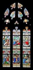 Eglise Notre-Dame-de-l'Assomption ou de Saint-Michel - Français:   Vitrail représentant des épisodes de la vie de saint Joseph (XIXe s.) - Église Notre-Dame-de-l\'Assomption - Quimperlé (Finistère, France).