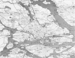 Manoir de la Haye -  Map of the environs of Stockholm, showing the situation of the scenes of the Olympic competitions.