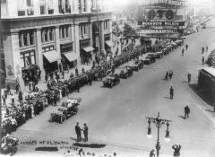 Manoir de la Haye -  Parade of Olympic athletes, Aug. 1912 on 5th Avenue in New York City.