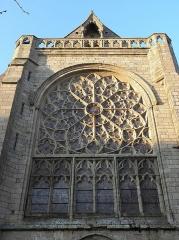 Ancienne cathédrale Saint-Paul-Aurélien - Français:   Maîtresse vitre de la façade méridionale du transept sud de la cathédrale Saint-Pol-Aurélien en Saint-Pol-de-Léon (29).