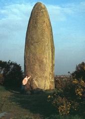 Menhir de Champ-Dolent - Deutsch: Dol-de-Bretagne, Menhir du Champ-Dolent 1978