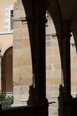 Ancienne abbaye Saint-Sauveur - Cloître de l'abbaye Saint-Sauveur de Redon (35). Aile est.