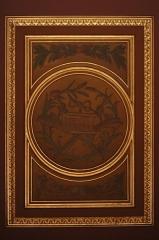 Cathédrale Saint-Pierre - Caisson du plafond du déambulatoire de la cathédrale métropolitaine Saint-Pierre de Rennes (35). Instruments de la Passion.
