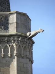 Ancienne cathédrale Saint-Vincent - Clocher de la cathédrale Saint-Vincent de Saint-Malo (35). Gargouille.