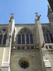 Ancienne cathédrale Saint-Vincent - Façade sud du chœur de la cathédrale Saint-Vincent de Saint-Malo (35). Clair-étage. 3ème travée .
