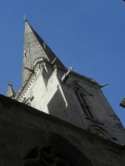 Ancienne cathédrale Saint-Vincent - Clocher de la cathédrale Saint-Vincent de Saint-Malo (35) vu de la Rue de la Blatrerie.