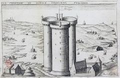 Tour Solidor et ouvrages avancés - Français:   La tour Solidor, dessinée par Claude Chastillon en 1610