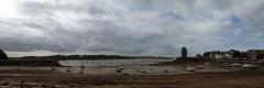 Tour Solidor et ouvrages avancés - Français:   Une photo panoramique de la plage de Saint-Servan tout près de Saint-Malo et qui autrefois était un port très actif entre l\'embouchure de la Rance et l\'océan...