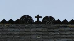 Chapelle Sainte-Anne - Français:   Chapelle Sainte-Anne (Buléon): détail de la toiture avec les date de réfection (1881 et 1978)