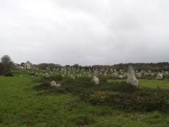 Quatre-vingt-deux menhirs alignés - Français:   Alignements de Carnac