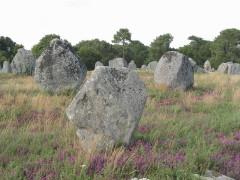 Quatre-vingt-deux menhirs alignés - Nederlands: Megalieten van Kermario, Carnac