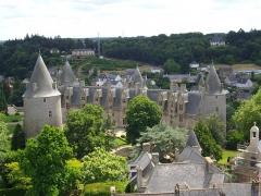 Château - Château de Josselin (Morbihan, France), vu depuis le clocher de la basilique