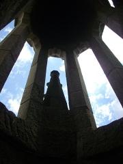 Eglise Notre-Dame-du-Roncier - Basilique Notre-Dame-du-Roncier de Josselin (Morbihan, France): dans le clocher