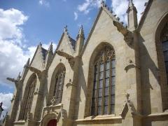 Eglise Notre-Dame-du-Roncier - Basilique Notre-Dame-du-Roncier de Josselin (Morbihan, France): flanc méridional