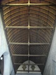Eglise Notre-Dame-du-Roncier - Basilique Notre-Dame-du-Roncier de Josselin (Morbihan, France): charpente de la nef