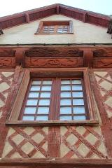 Maison datée de 1538 - Français:   Maison à colombages, sise au n°3, rue Georges Leberd à Josselin (Morbihan, France).