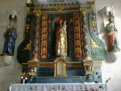 Chapelle de la Congrégation, ou chapelle Notre-Dame de Plasquer -  Morbihan Locmine Chapelle Congregation Retable 24102013