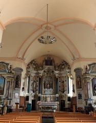 Eglise Saint-Cyr - Français:   Église Saint-Cyr (Moréac): vue générale intérieure