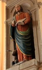 Eglise Saint-Cyr - Français:   Église Saint-Cyr (Moréac): statue de Saint-Luc