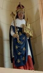 Eglise Saint-Cyr - Français:   Église Saint-Cyr (Moréac): statue de roi (Saint-Louis?)