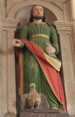 Eglise Saint-Cyr - Français:   Église Saint-Cyr (Moréac): statue de Saint-Jean avec aigle