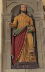Eglise Saint-Cyr - Français:   Église Saint-Cyr (Moréac): statue de Saint-Marc avec un lion