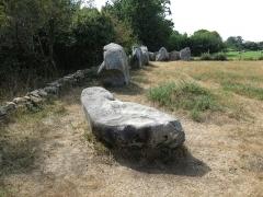 Cromlech de Crucuno - Français:   Cromlech de Crucuno situé sur la commune de Plouharnel, près de la limite de la commune d\'Erdeven