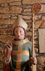 Chapelle de Saint-Gobrien - Chapelle Saint-Gobrien de Saint-Servant: statue de Saint-Gorien dans le chœur, détail