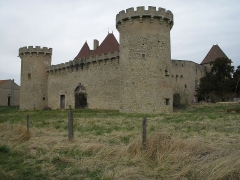 Château de la Roche -  Château de la Roche, (France). Le château, vue arrière