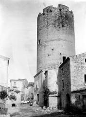 Ruines de la tour du château fort -