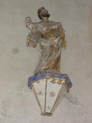 Eglise Notre-Dame - English:   Vergheas (Puy-de-Dôme) église statue d\'un saint
